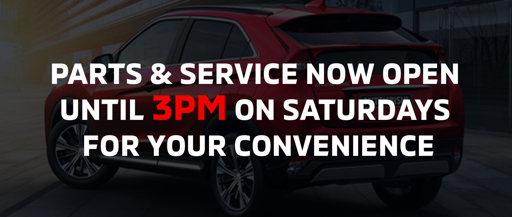 Parts and service hours, Ajax Mitsubishi